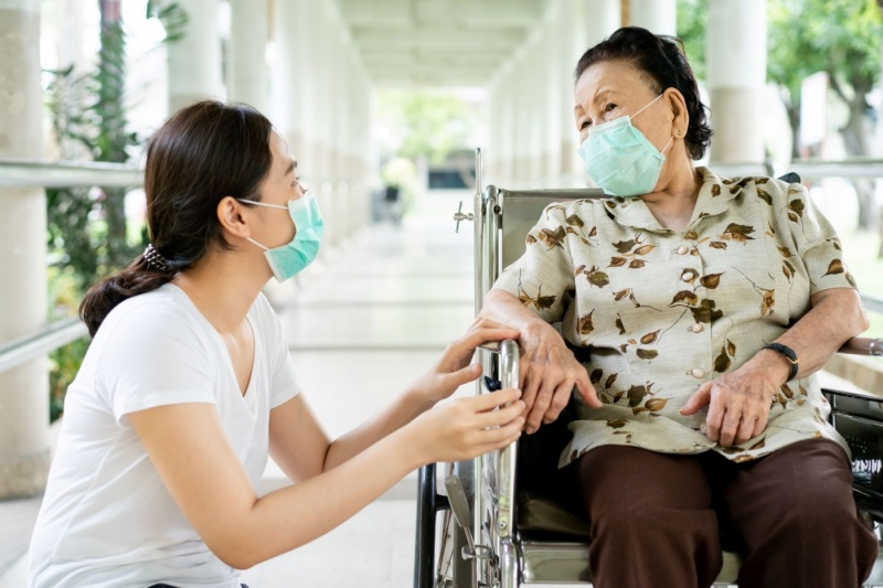 In-Person Care Partner with masks